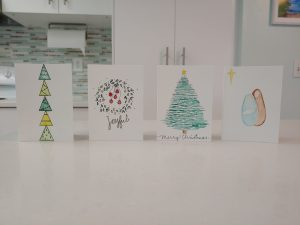 Hand-painted Christmas cards