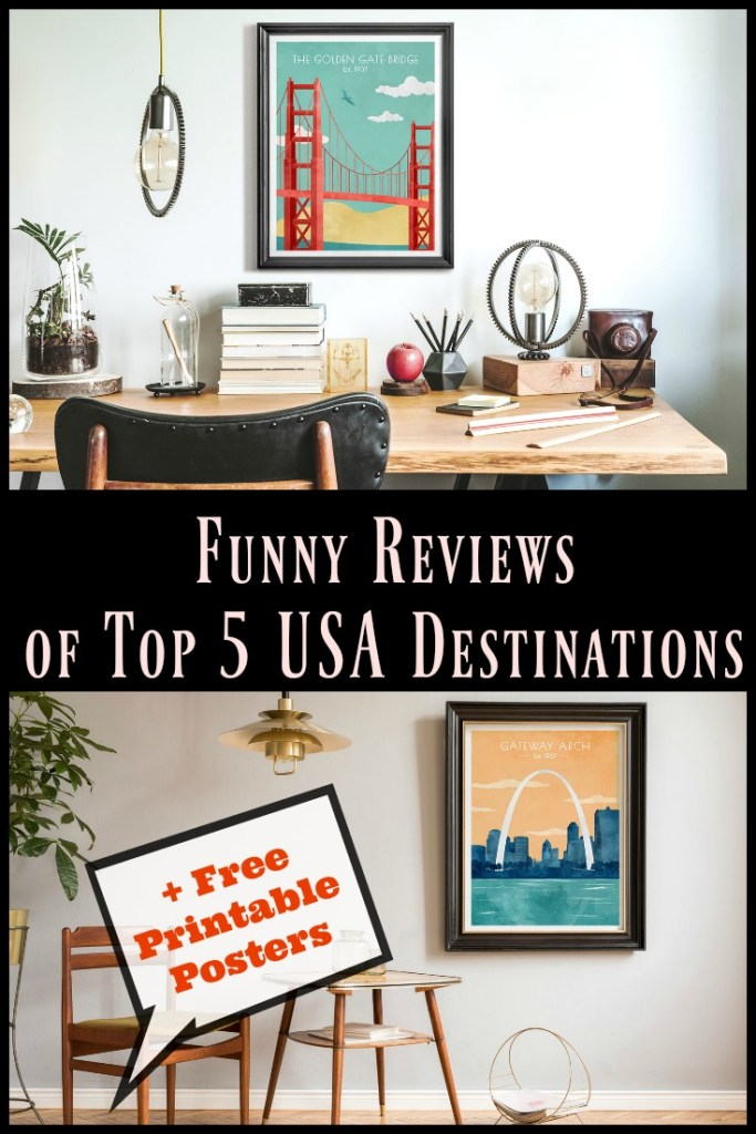 funny reviews of 5 top destinations