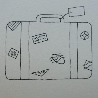 vintage suitcase outline