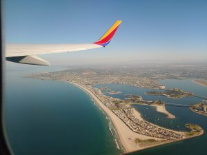 plane over Mission Bay