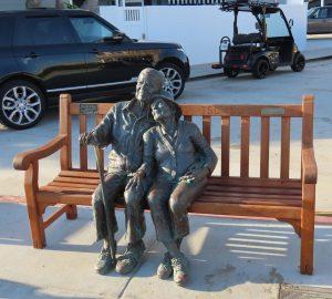 statue on Balboa Island