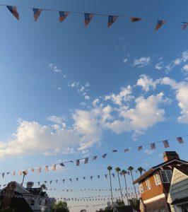 pennants on Balboa Island