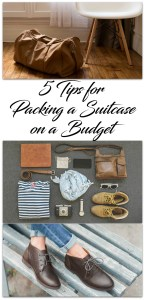 packing a suitcase on a budget