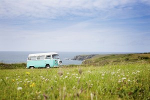 camper by the sea
