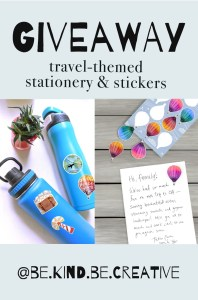 travel-themed stationery giveaway