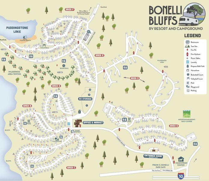 Bonelli Bluffs RV Resort & Campground map
