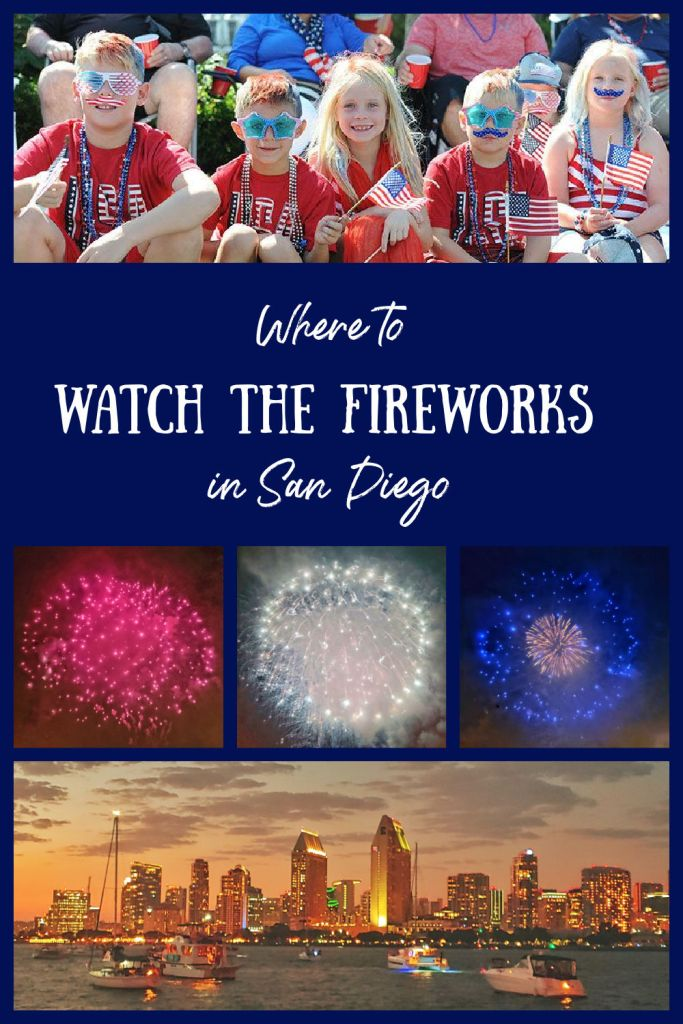 watch the fireworks in San Diego