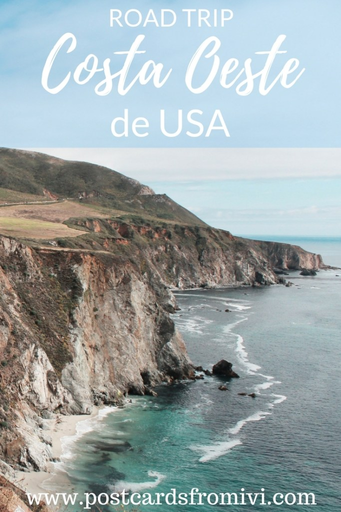 Viaje por la Costa Oeste de Estados Unidos en Auto - con mapa