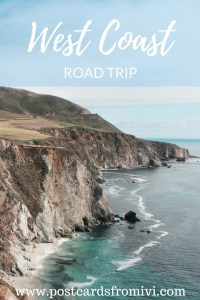 West Coast Road Trip Itinerary & useful info