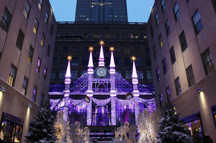 saks fifth avenue - navidad en nueva york