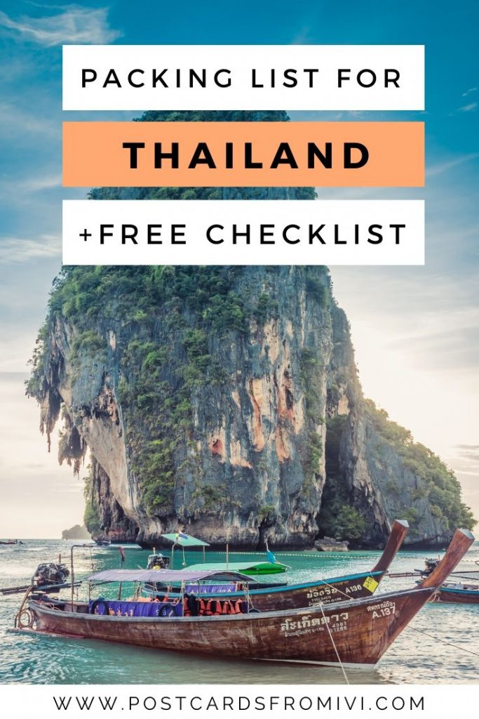 Thailand Packing List for 2 weeks with downloadable checklist
