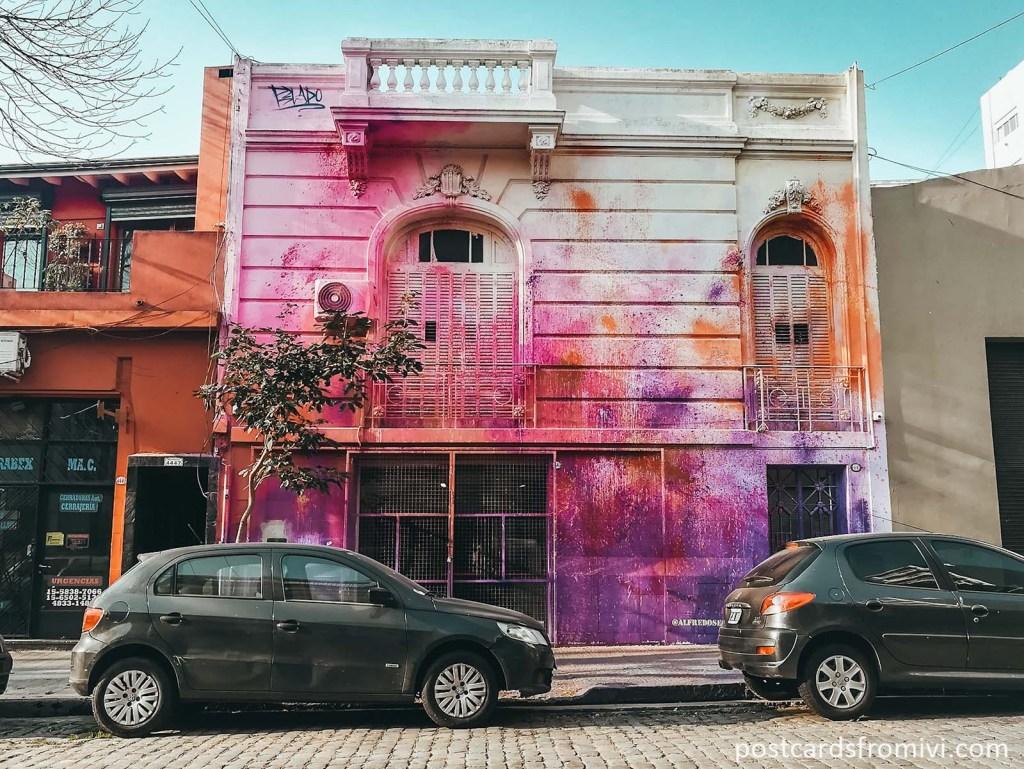 Mural Exabrupto de color Palermo Soho