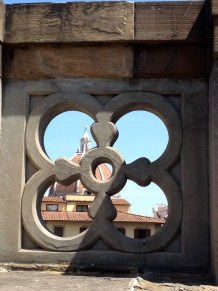 A peek at the iconic duomo from the Uffizi