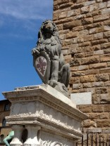 """Marzocco"" - Donatello's lion with the heraldic shield of Florence"