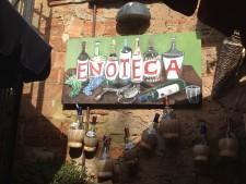 An enoteca, wine bar, in Tuscany.