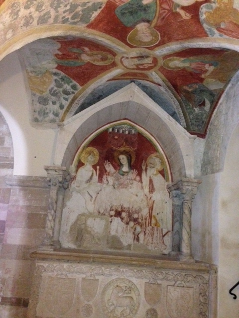 Puglia Trani cathedral fresco 1-Photo Victoria De Maio
