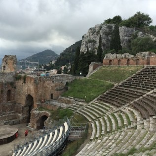 Historical Taormina with its ancient Teatro Greco.