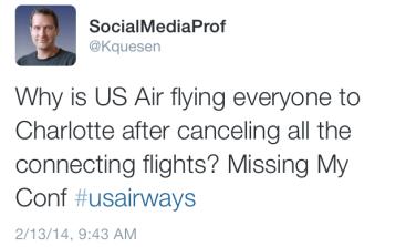 social media, customer service, airlines, storm, winter, snow, cancel, delay