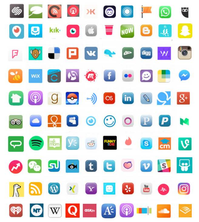 Top Social Media Channels Icons