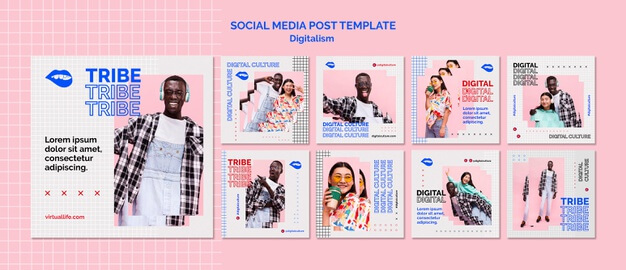 Social Media Post Template Created by Freepik
