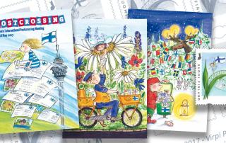 Virpi Pekkalalta postcrossaajille kolme postikorttia