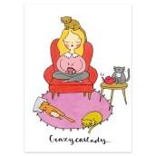 Ansichtkaart Crazy Catlady van Muchable