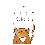 Ansichtkaart Cuddle van Muchable