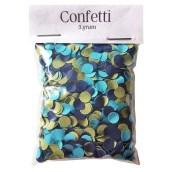 Confetti Groenblauw