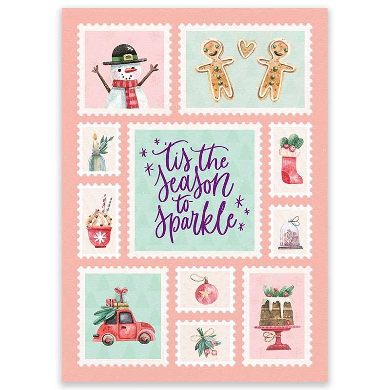 Kerstkaart Postzegels van LittleLeftyLou
