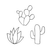 Stempelset Cactus van Nouk-san