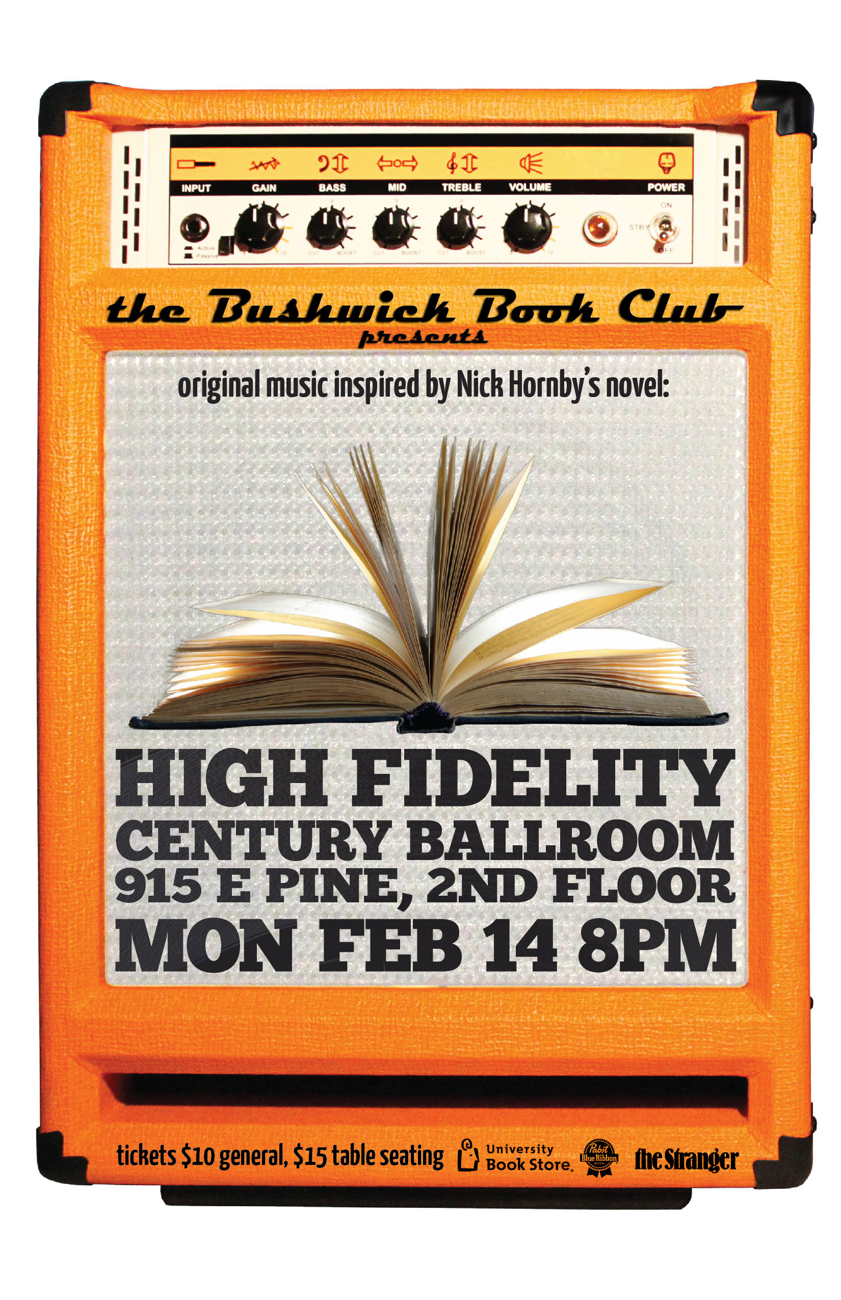 Poster a Week Free Posters Online - This Week: Bushwick Book Club - High Fidelity, Event Poster