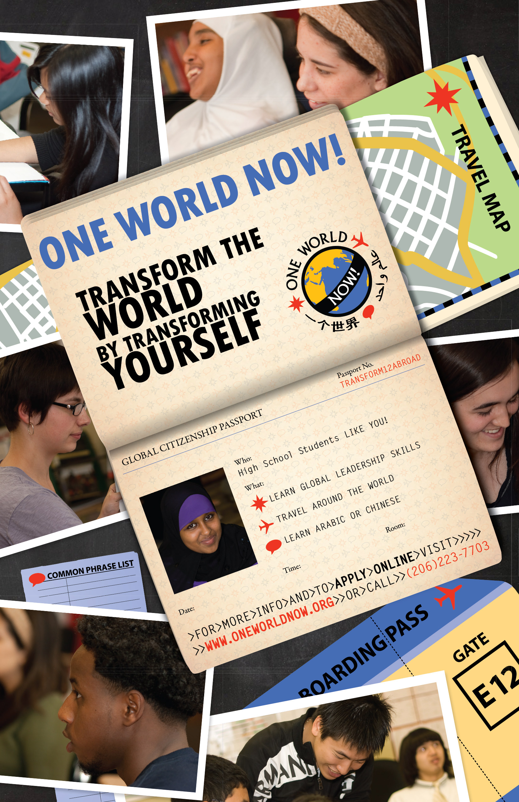 Poster a Week Free Posters Online - This Week: One World Now, Non-profit Organization Poster