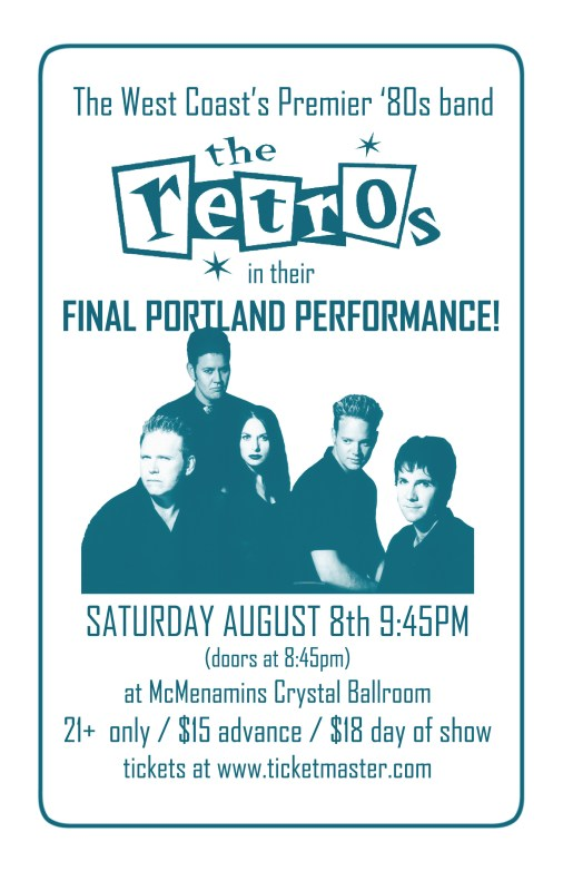Poster a Week Free Posters Online - This Week: The Retros, Band Poster