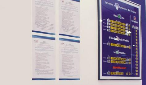 PosterFix® - 4 A4V Estándar Azul