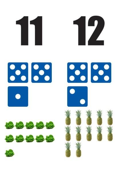 Getallen-11-12-poster in de klas getallenlijn