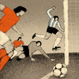 Argentina, 1978: Argentina - Netherlands 3-1. Mario Kempes scores his second personal goal.