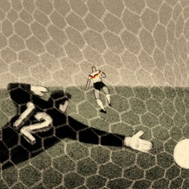 Italy, 1990: West Germany - Argentina 1-0. Andreas Brehme doesn't miss the penalty kick.