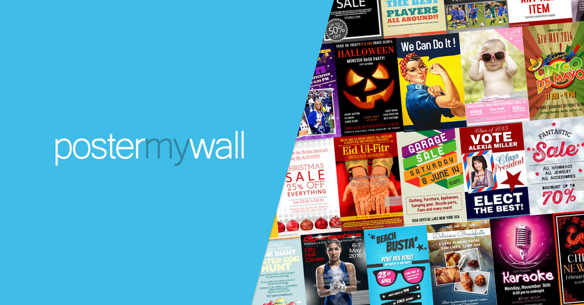 easy promotional posters graphics
