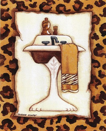 leopard sink ~ fine-art print - bathrooms art prints and posters