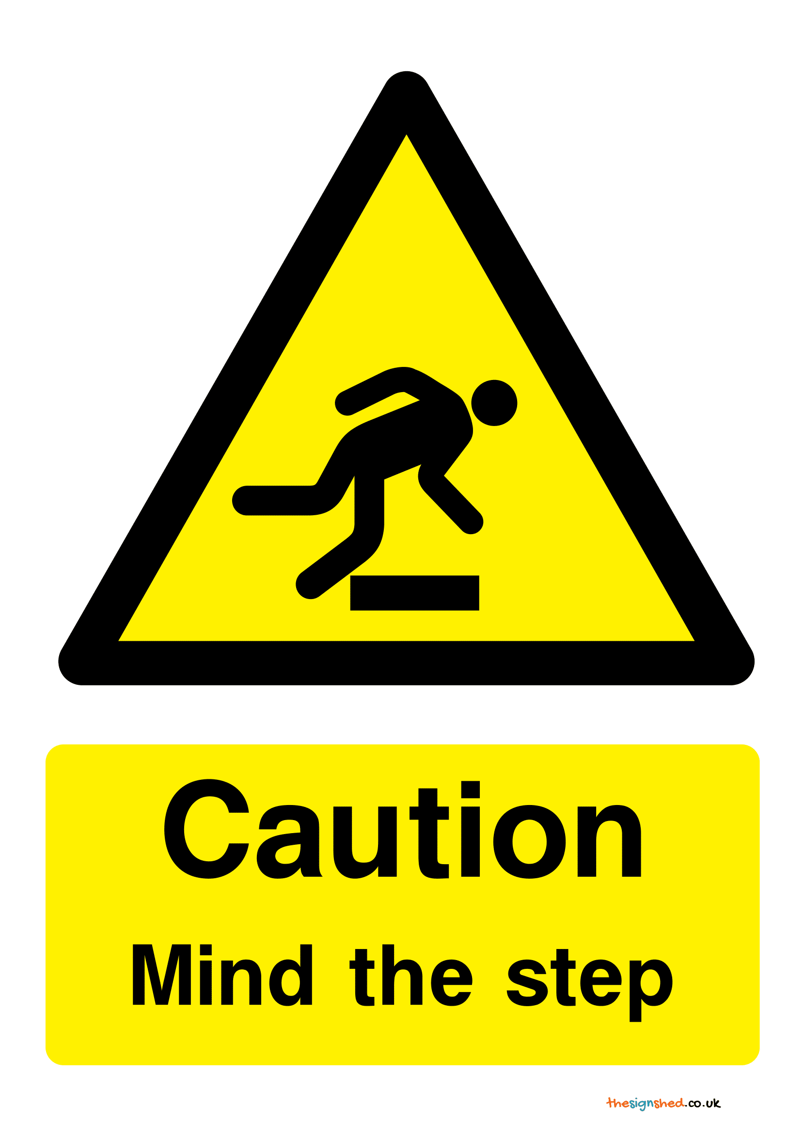 Mind The Step Signs Poster Template