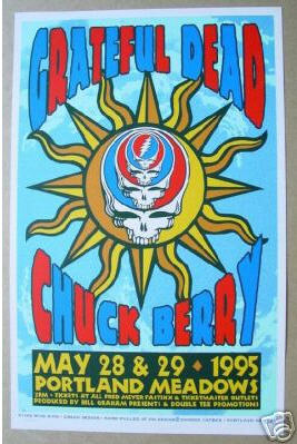 Image result for chuck berry and the grateful dead at portland meadows in portland or