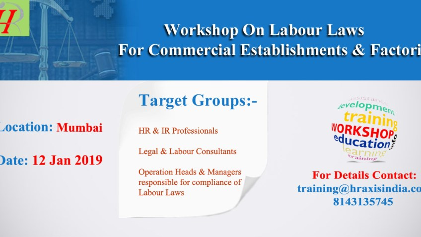 Work Shop on Labour Laws For Commercial  Establishment & Factories in Mumbai Location | free Classified | Free Advertising | free classified ads