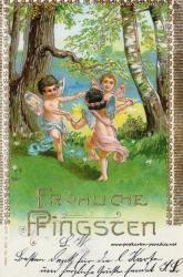 Fröhliche Pfingsten alte Karte