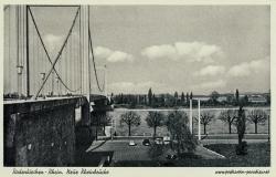 Ansichtskarte Köln-Rodenkirchen: Autobahnbrücke ca. 1955