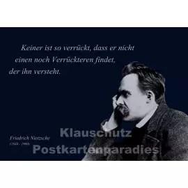 Nietzsche Zitat Postkarte Verruckt