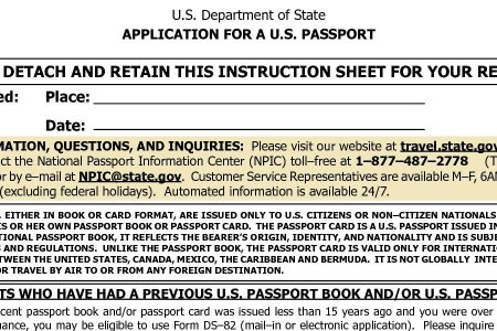 Free Forms 2018 Passport Application Form Free Forms
