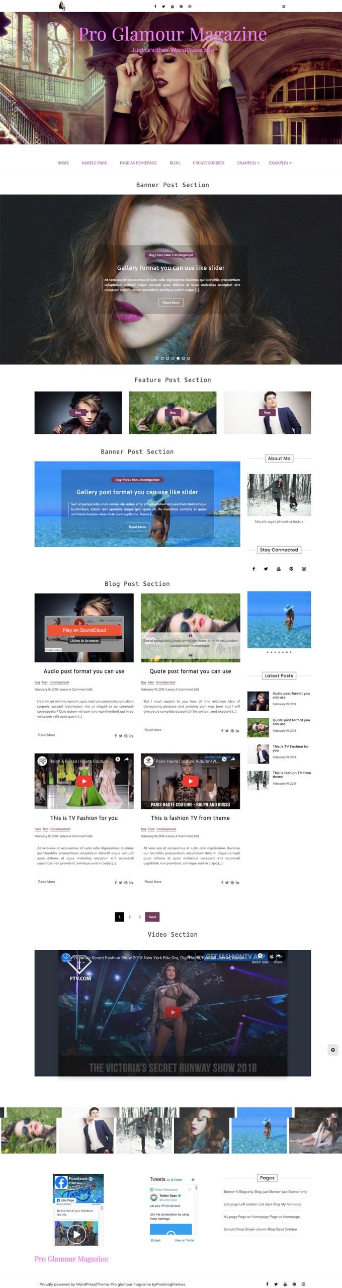 Pro glamour magazine wordpress theme