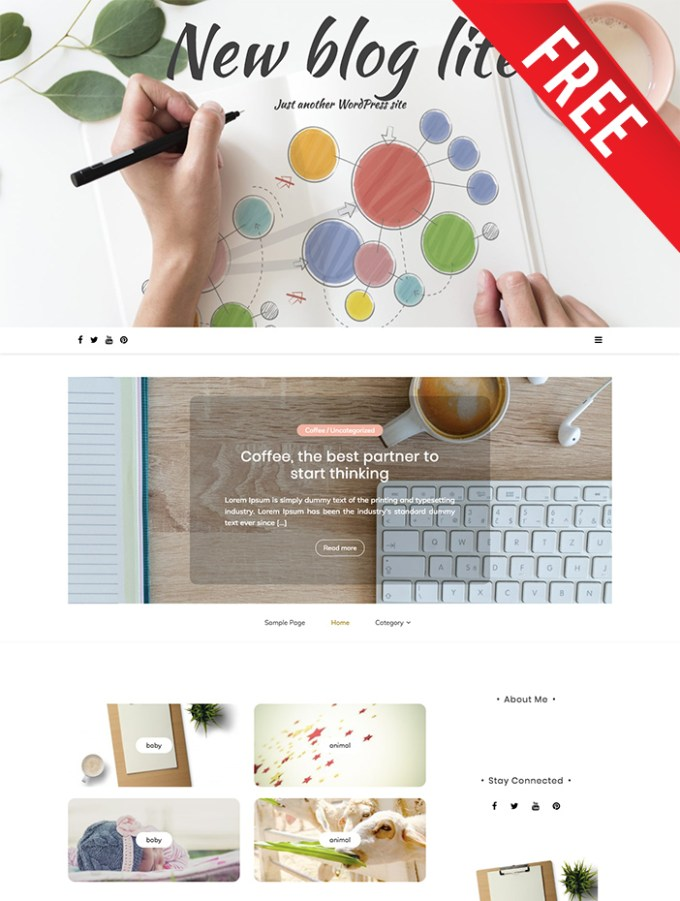 new blog lite a free wordpress theme