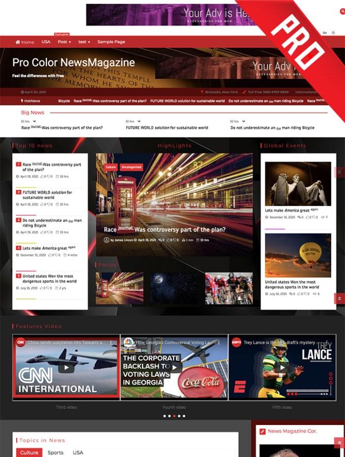 pro color newsmagazine theme
