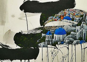 H Σαντορίνη και άλλα παγκόσμια δομημένα τοπία από τα πινέλα της Jieun Park